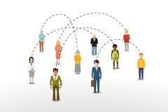 Conceito social da conexão dos povos da rede ilustração do vetor