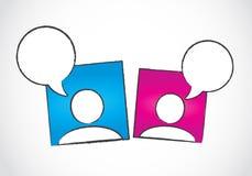 Conceito social da conversação dos media ilustração stock