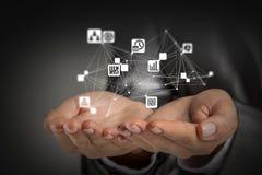 Conceito social da interação 3d rendem Fotos de Stock
