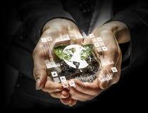 Conceito social da interação 3d rendem Foto de Stock