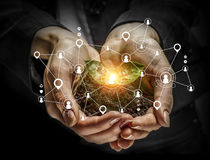 Conceito social da interação 3d rendem Imagem de Stock Royalty Free