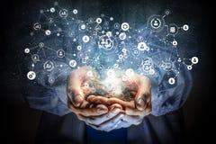 Conceito social da interação 3d rendem Imagem de Stock