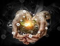 Conceito social da interação 3d rendem Fotografia de Stock