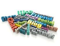 Conceito social da palavra dos meios Foto de Stock Royalty Free