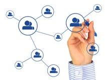 Conceito social da rede. Fotos de Stock