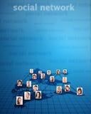 Conceito social da rede foto de stock