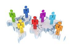 Conceito social da rede. Imagens de Stock