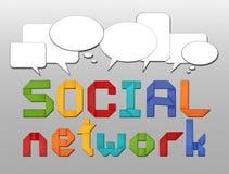 Conceito social da rede Fotografia de Stock