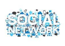 Conceito social da rede Imagem de Stock Royalty Free