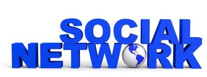 Conceito social da rede Foto de Stock Royalty Free
