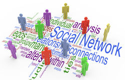 conceito social da rede 3d Fotografia de Stock Royalty Free