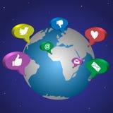Conceito social da rede Imagens de Stock Royalty Free