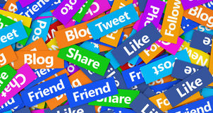 Conceito social da rede Fotografia de Stock Royalty Free