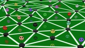 Conceito social da rede com caras conectadas Fotografia de Stock Royalty Free