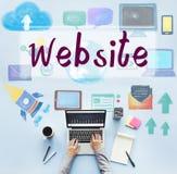 Conceito social da rede da conexão dos meios do Web site foto de stock royalty free