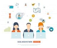 Conceito social da rede e dos trabalhos de equipa Fotos de Stock