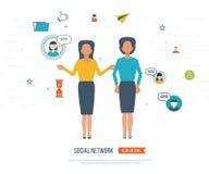 Conceito social da rede e dos trabalhos de equipa Fotografia de Stock Royalty Free