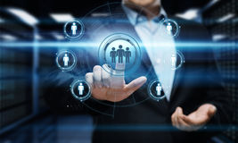 Conceito social da tecnologia do negócio do Internet da rede de Media Communication Imagem de Stock