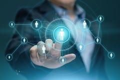 Conceito social da tecnologia do negócio do Internet da rede de Media Communication imagens de stock