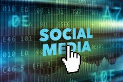 Conceito social da tecnologia dos meios Fotos de Stock Royalty Free