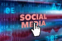 Conceito social da tecnologia dos meios Foto de Stock