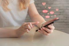 Conceito social das redes dos meios imagem de stock