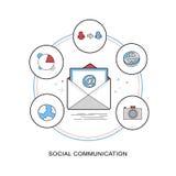 Conceito social de uma comunicação ilustração do vetor