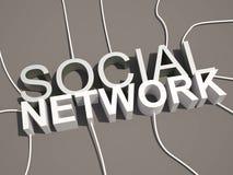 conceito social do texto da rede 3d ilustração royalty free