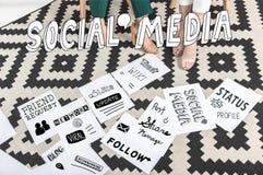 Conceito social dos media imagem de stock royalty free