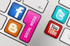 Conceito social dos media Imagens de Stock