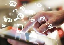 Conceito social dos media Imagem de Stock