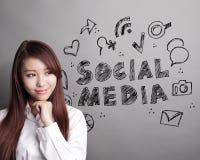 Conceito social dos media fotos de stock royalty free
