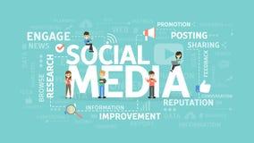 Conceito social dos media ilustração royalty free