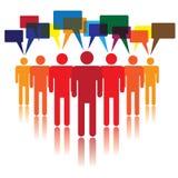 Conceito social dos media dos povos que comunicam-se ilustração stock