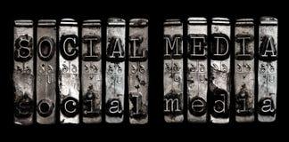 Conceito social dos meios Imagem de Stock Royalty Free