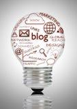 Conceito social dos meios do blogue Imagem de Stock