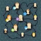 Conceito social moderno da rede dos meios Imagem de Stock Royalty Free