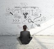 Conceito Startup com esboço do negócio imagem de stock