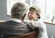 Conceito superior da esposa do marido dos pares da aposentadoria fotos de stock royalty free