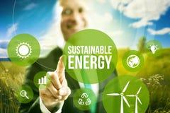 Conceito sustentável da energia Fotografia de Stock Royalty Free