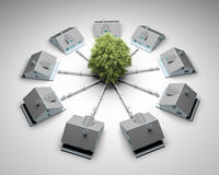 Conceito sustentável da energia Fotos de Stock Royalty Free