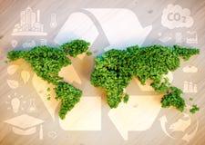 Conceito sustentável do mundo Foto de Stock