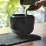 Conceito tradicional da cultura de Matcha do japonês imagens de stock royalty free
