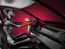 Conceito transparente do carro com excitador ilustração royalty free