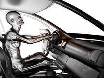 Conceito transparente do carro com excitador ilustração do vetor