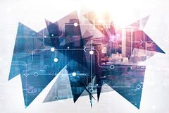 Conceito urbano da tecnologia ilustração stock