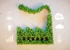 Conceito verde da cidade ilustração royalty free