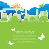 Conceito verde da cidade da ecologia Imagens de Stock