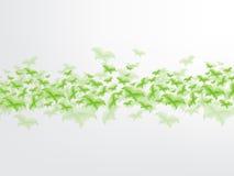 Conceito verde da folha da borboleta Fotografia de Stock