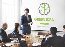 Conceito verde da natureza da conservação da conservação da ideia imagens de stock